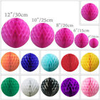 1 5 10 Paper Honeycomb Balls Lantern Pompoms Table Garland Wedding Multicolour