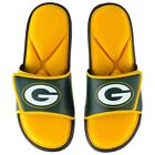NFL Green Bay Packers Men's Deluxe Foam Sport Slide Sandals