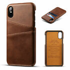 For iPhone Xs Max 7 8 Leather Wallet Card Slot Holder Flip Stand Back Cover Case
