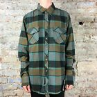 Fox Ozzwald Long Sleeve Flannel Shirt in Cocoa Size XL