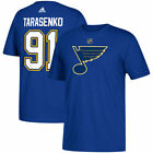 St. Louis Blues Vladimir Tarasenko Adidas Blue Short Sleeve Jersey T-Shirt $29.99 USD on eBay