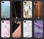 Plain Marble Phone Case Cover Wooden Style Design Blank 5 SE 6 7 S6 S7 S8 + m3a