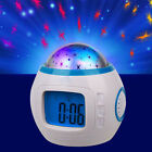 Music Star Sky Projection LED Calendar Thermometer Digital Alarm Clock Kids Gift
