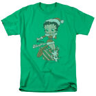 Betty Boop Christmas Present Pudgy Define Naughty Green Adult T-Shirt $15.98 USD