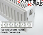 Kartell K-Rad Double Panel Type 22 Compact Radiator 600mm High Various Widths