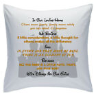 "Designed White Cushions 18"" - Disney Quotes - In Our Loving Home - Style 1"