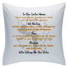 "Designed White Cushions 18"" - Disney Quotes - In Our Loving Home - Style 15"