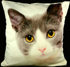 Personalised CREAM Cushion Cover Printed Photo Gift Custom Large Print + Filling