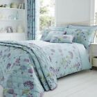 Shabby Botanical Cotton Rich Duvet/Quilt Cover With Pillow Cases