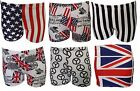Womens Ladies Sexy Summer US Flag Union Jack Newspaper Trunks Hot Pants Shorts