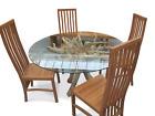 TEAK ROOT DINING TABLE WITH 4 SOLID TEAK CHAIRS SOLID HIGH QUALITY FURNITURE