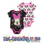 Baby Romper Set (2) Minnie Mouse Bodysuit One Piece Disney Licensed Boy Girl NWT