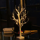 Silver Birch Twig Tree LED Warm White Light White Branches Home Garden Decor US