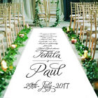 Personalised Marrying AISLE RUNNER. Church Wedding Carpet Decoration. 15ft - 30ft
