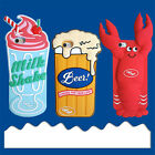 Cartoon cute Lobster Beer Drink silicone soft Case Cover for iPhone X 8 6S 7Plus