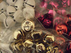 18mm JINGLE BELLS .. SILVER / GOLD / GLITTER / PINK / RED ... CHRISTMAS CRAFTS
