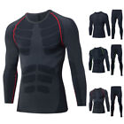 Winter Mens Thermal Underwear Set Fitness Quick Dry Compression Shirt + Pants