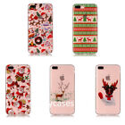 Trend Cute Cartoon Christmas Gift Clear Soft case cover for iphone 8 X 7 6S plus