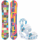 Burton Snowboard Set ICS Feather Snowboard + CITIZEN BINDING Damen -Snowboard