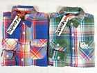 NWT SUPERDRY Dawkings Classic Plaid Casual Shirt L/S Men Size Medium. Large