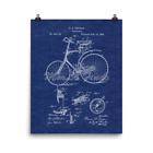 Bicycle 1889 Vintage Velocipede Patent Art Print Poster 8x10/16x20