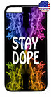 Stay Dope Swag Cool Pot Weed Marijuana Case Cover iPhone Xs Max XR X 8 7 6 Plus