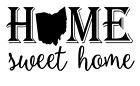 Ohio State Home Sweet Home Vinyl Decal Sticker RV Window Wall Home Choice
