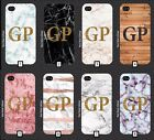 Personalised Gold Glitter Marble Phone Case Initials 5 SE 6 7 S6 S7 S8 + m4a