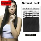 20pcs 100% Tape in Human Hair Extension 16-24 inch 30g-70g Natural Black