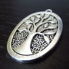Tree Of Life 38mm Antiqued Silver Plated Charm Pendants C7176 - 2, 5 Or 10PCs