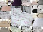 Luxury Super Soft Quilted Embroidered Bed Spread Bed Throw & Pair Of Pillow Case