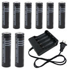 Rechargeable 18650 3.7V Li-ion Batteries/US Smart Charger US Stock