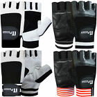 Leather Weight Lifting Gloves Gym Training Exercise  Body Building Gloves Straps
