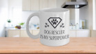 Dog Rescuer Is My Superpower Ceramic Coffee/Tea Mug- 2 sizes 11 & 15 oz, Dogs