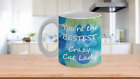 Crazy Cat Lady Custom-Designed Wraparound Ceramic Coffee Mug 11 and 15 oz size