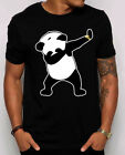 Dabbing Panda Unisex T-shirt. Funny Party Panda bear dance just dab shirt S-4XL