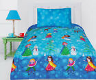 Snow Princess Comforter Set Quilt Doona Girls Bedding Kids Snowman Snow Queen image