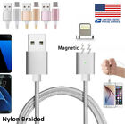 1M Nylon USB CHANGER MAGNETIC ADAPTER SYNC DATA CABLE for