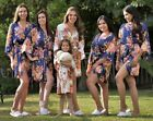 USA SELLER Floral satin bridesmaid robes gowns bride wedding party bachelorette