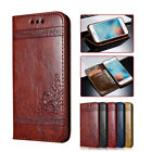 For iPhone X 8 7 6 Galaxy Note8 S8+ Leather Flip Case Cover Card Holder Wallet