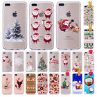 Xmas Christmas Soft Silicone Tpu Phone Case Cover For Iphone X 8 Plus 7 6s 5