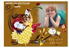 """BEAUTY AND THE BEAST  OWN PERSONALISED PHOTO EDIBLE BIRTHDAY CAKE TOPPER 11""""X8"""""""