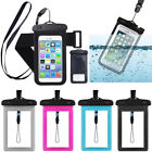 """Waterproof Phone Case PVC Anti-Water Pouch Dry Bag Cover for UNDER 6.0"""" Phone BL"""