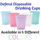 Disposable 5 oz Plastic Drinking Cups 5 Cup Colors Qt:50-500 pcs Defend