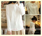 Lolita French Toast White Shirt Long Sleeve 3Layers Peter Pan Collar Blouse Top
