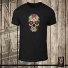 Sugar Skull with Rose - Goth Emo Metal Punk Alternative Day of the Dead Mexican