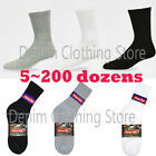 5~200 Dozens Wholesale Lots Men women Solid Sports Cotton Crew Socks Xmas Gift