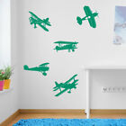 Planes Aircraft Wall Stickers Decal Kids Decor Window Fun Vinyl Colourful A165