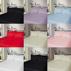 400 THREAD COUNT LUXURY 100% EGYPTIAN COTTON FLAT BED SHEETS, ALL UK SIZES GREY