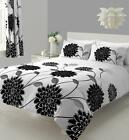 Sophia Duvet Cover Quilt Cover Bedding Set white/black in Single double king